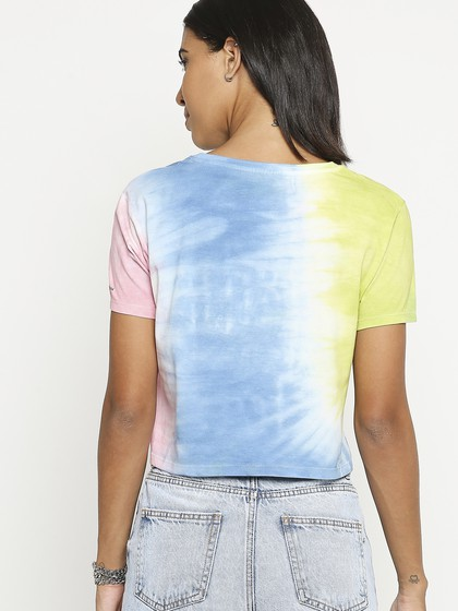 Product Image for Multi Round Neck Crop T-Shirt